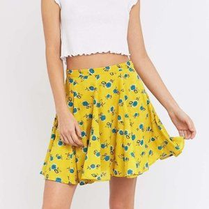 Urban Outfitters Kimchi Blue Yellow Mini Skirt